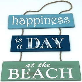 Beach Happiness Sign