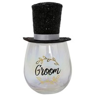 Celebration Glass w/ Crown - Groom