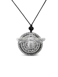 Bee You Large Necklace - Silver