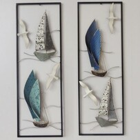 Sail Boats Wall Art Set