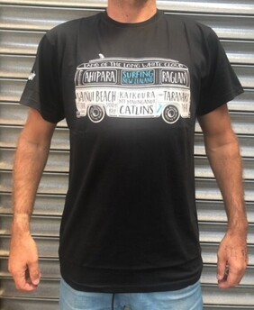 Moana Road Surfing Tee Black - XS
