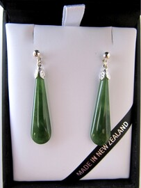 Greenstone Teardrop Earrings