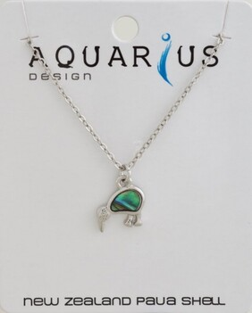 Natural Paua Kiwi Necklace