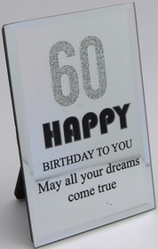 60th Birthday Plaque