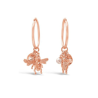 Bee You Hoop Earrings - Rose Gold