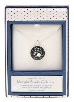 EQ Midnight Sparkle Round Planet Pendant