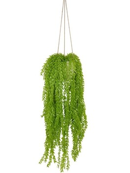 Artificial Light Green Hanging Plant Pot
