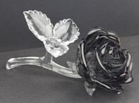 Black Acrylic Rose