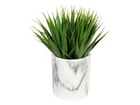 Grass in Marble Pot