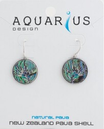 Paua Filigree Pohutukawa Earrings