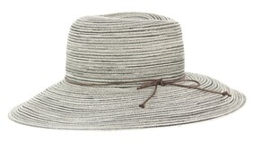 Bermuda Capeline Hat - Black/ White