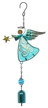 Angel Bell Wind Chime - Blue