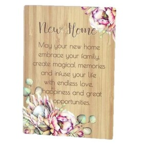 Bunch of Joy Sentiment Plaque 18x13 - New Home