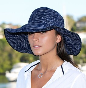 Summer Resort Hat - Navy