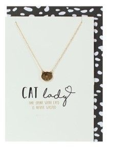 Cat Lady Necklace Card