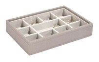 Stackers Classic Jewellery Mini Compartment Layer - Grey