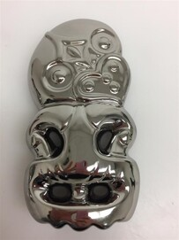 Tiki Wall Hanging - Chrome