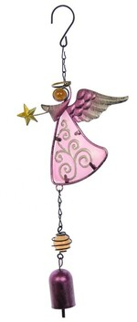 Angel Bell Wind Chime - Pink