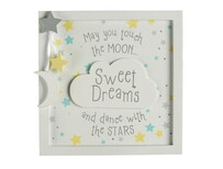 3D Baby Moon Framed Sign
