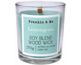 Soy Blend Woodwick Candle 210g - Lemongrass