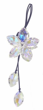 Hanging Crystal Flower - Clear