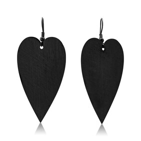 Amour Large Earrings - Black
