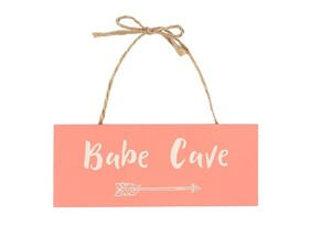 Babe Cave Hanging Sign