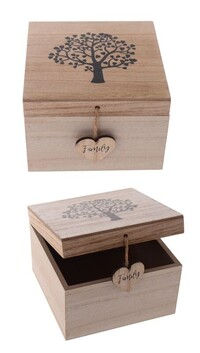 Tree of Life Wooden Trinket Box
