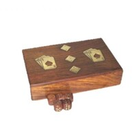 Wooden Cards & Dice Box