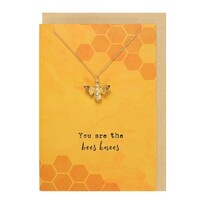 Bees Knees Necklace Card