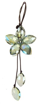Hanging Crystal Flower - Green