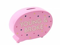 Young & Broke Money Bank