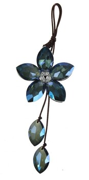 Hanging Crystal Flower - Blue