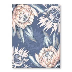 Blue Protea Canvas Wall Art