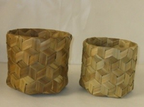 Small Round Weave Box
