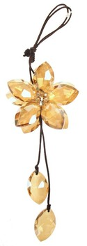 Hanging Crystal Flower - Topaz