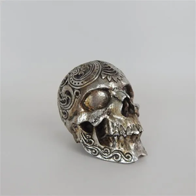Silver Antique Skull - Small
