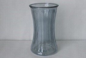 Waisted Glass Vase - Grey