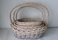High Handle Oval Basket - Small