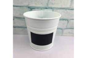 White Bucket with Blackboard