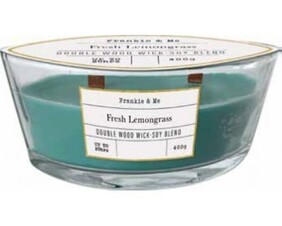 Soy Blend Double Woodwick Candle 400g - Lemongrass