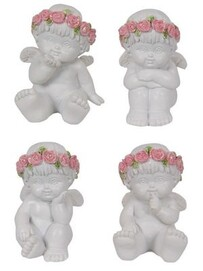 Cherub with Rose 4cm