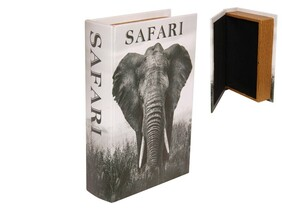 Black & White Elephant Book Box