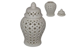 White Morrocan Ginger Jar