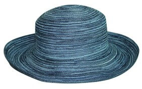 Helena Breton Hat - Denim Blue