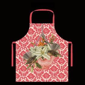 Kiwiana Apron - Red Fantails