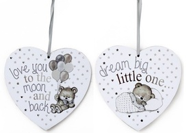 Baby Heart Shape Plaque - Assorted