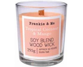 Soy Blend Woodwick Candle 295g - Tropical Coconut & Mango